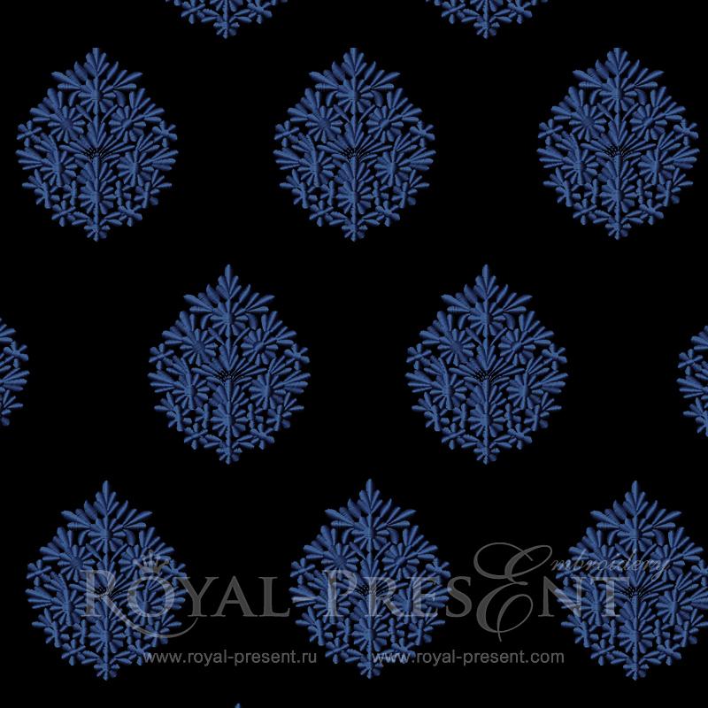 Дизайн машинной вышивки Классический декор из цветов