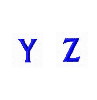 Дизайны вышивки Заглавные Мини буквы Y Z