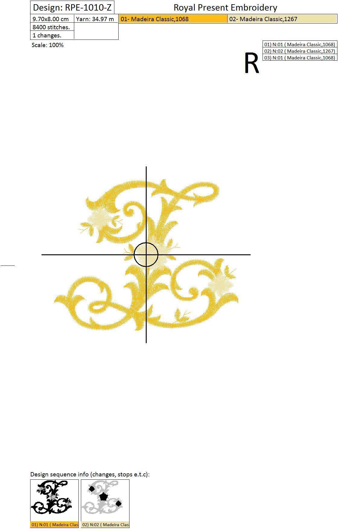 Бесплатный Дизайн машинной вышивки Монограмма винтажная буква Z
