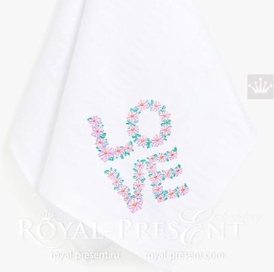 Дизайны машинной вышивки Цветочная Любовь - 3 размера