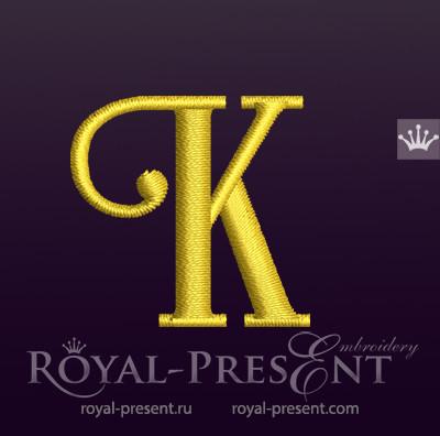 Дизайн машинной вышивки Заглавная буква K