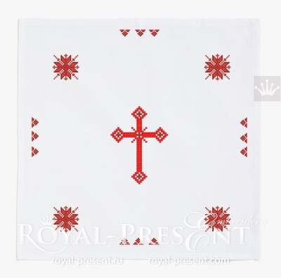 Дизайны машинной вышивки крестом к Пасхе
