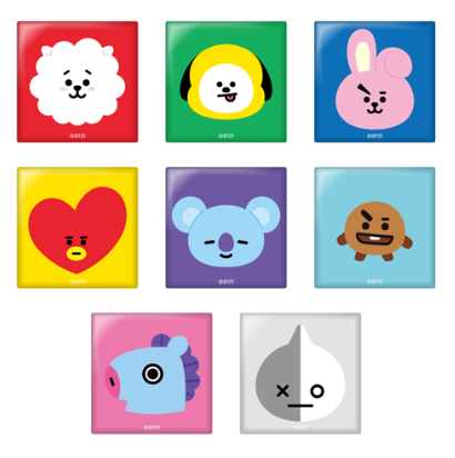 [Pre-order] BT21 Cafe Square can badge