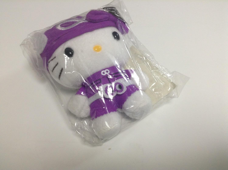 7-11 Eight Ranger Movie Hello Kitty Plushie/Mascot Purple