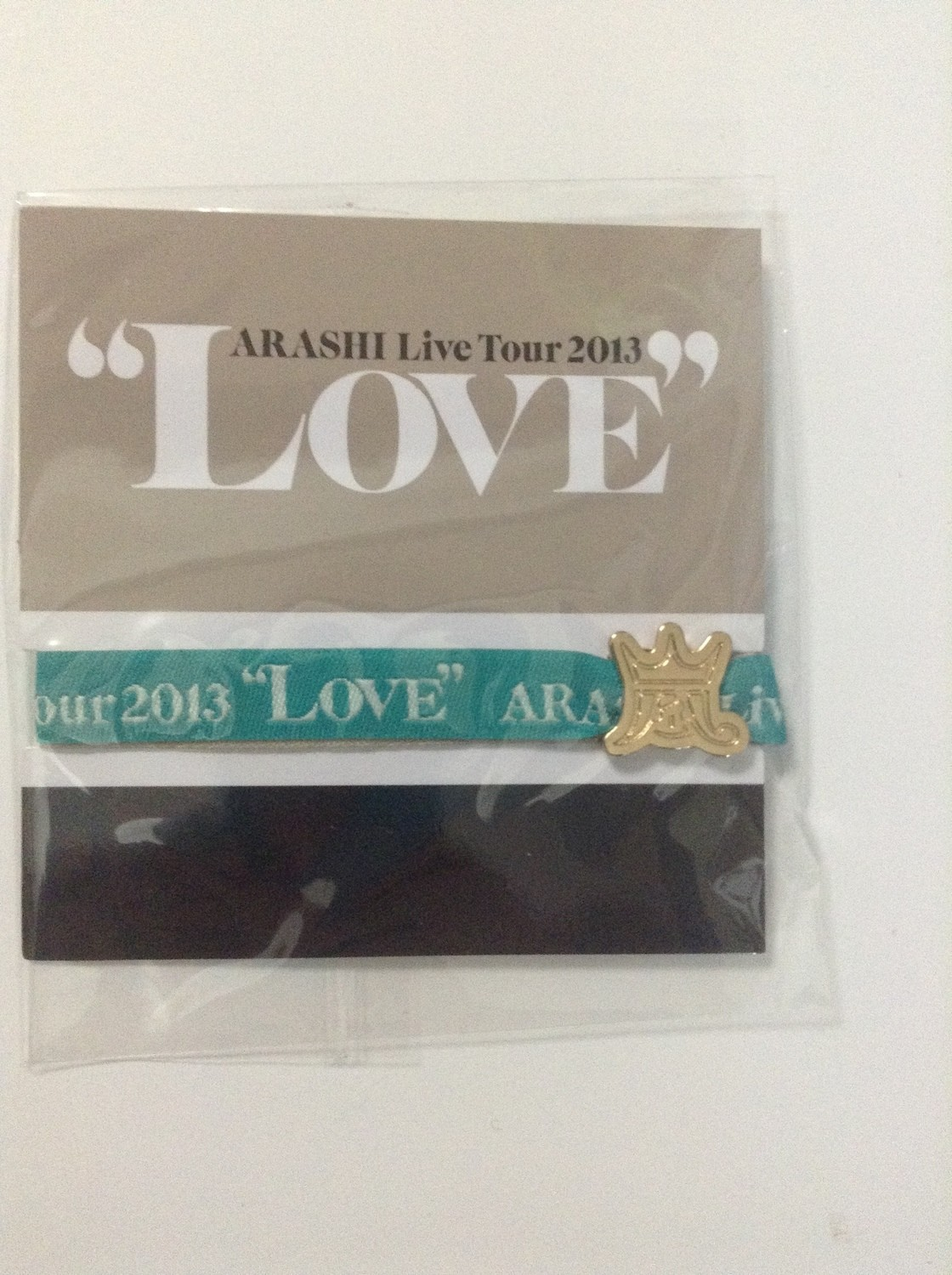 Arashi LOVE Tour Venue Limited Ribbon Bracelet Green