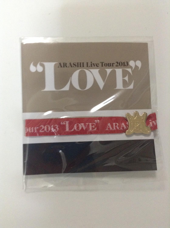 Arashi LOVE Tour Venue Limited Ribbon Bracelet Red