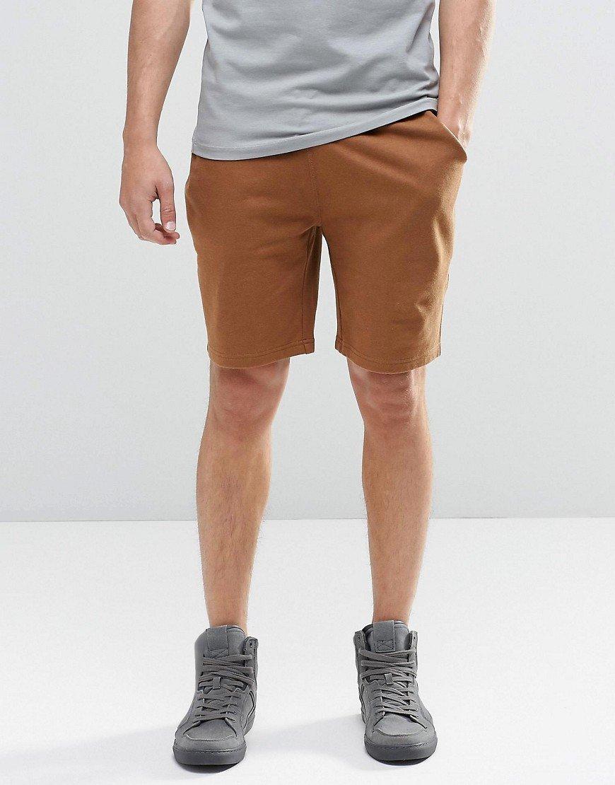 Pantalones cortos de punto en marrón TN-2300068