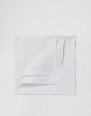 Pañuelo de bolsillo de seda en color blanco