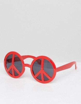 Gafas de sol con montura original de efecto de símbolo de la paz de Jeepers Peepers