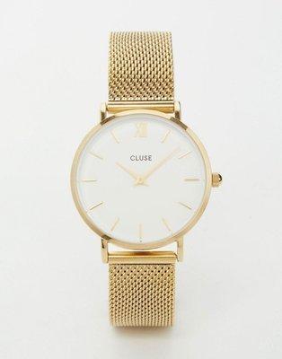 Reloj con correa de malla en dorado CL30010 Minuit de CLUSE