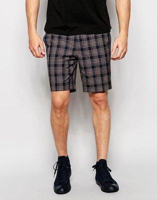 Pantalones cortos de vestir de corte slim a cuadros