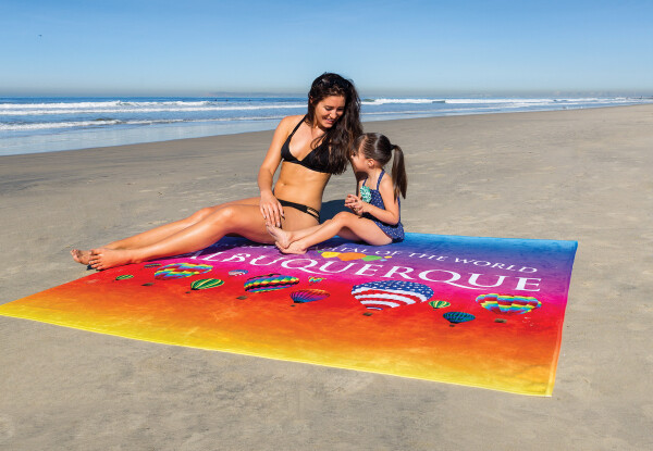 60 inch x 72 inch Over-Sized Beach Towel - King Size Beach Blanket
