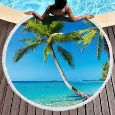 Round Beach Towel - 60 inch Round - Print On Single Side Only