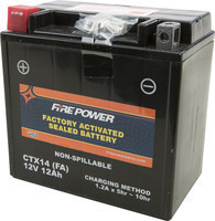 FIRE POWER SEALED FACTORY ACTIVATED BATTERY CTX14