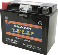 FIRE POWER SEALED FACTORY ACTIVATED BATTERY CTX12