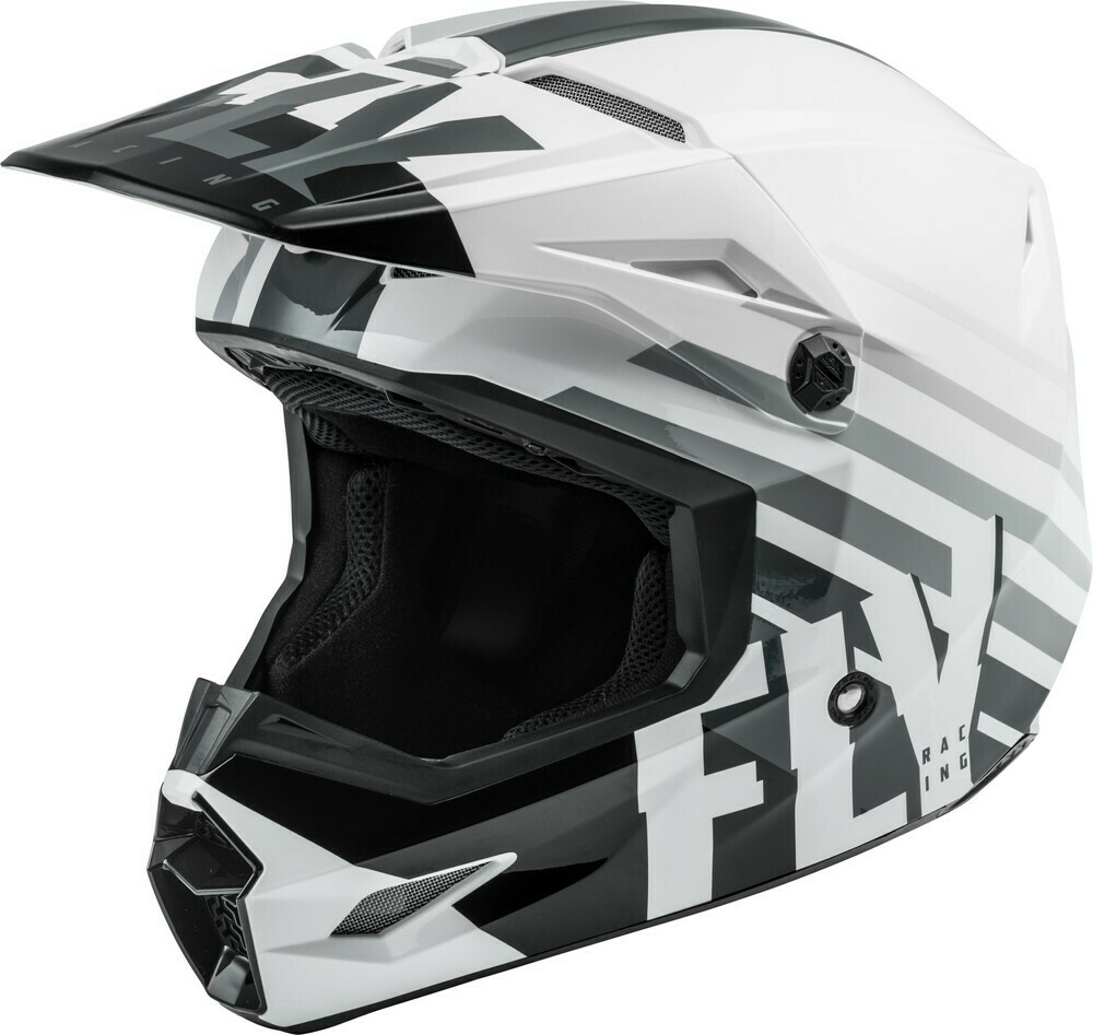 FLY RACING KINETIC THRIVE HELMET WHITE/BLACK/GREY XL