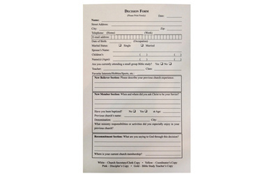 Four-Part Decision Forms (Pack of 50)