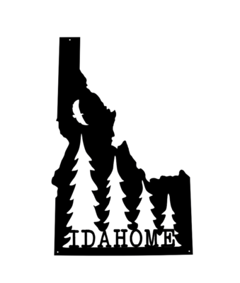 The Owyhee // 'Idahome' Sign with Trees & Bird