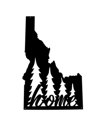 The Payette // 'Home' Sign with Trees