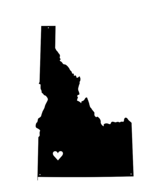 The Gem // Idaho Sign with Magnetized Heart