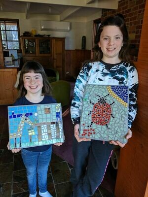 School holiday mosaic workshops for kids and parents