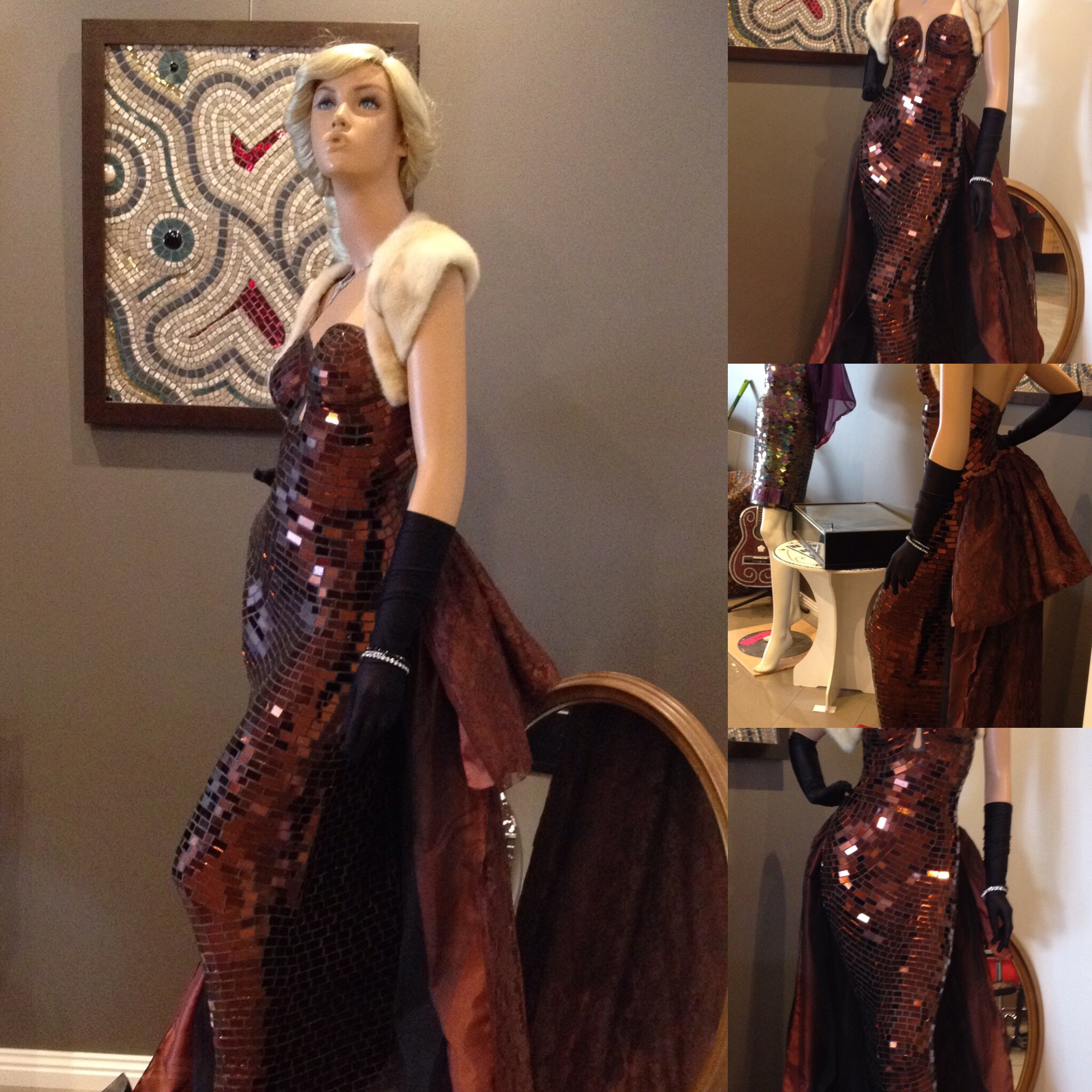 ChocolaArt mosaic sculptured dress $200 donation to CanCure Fundraising 00030