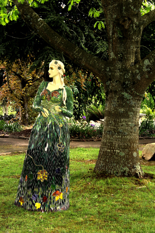 Gaia - Goddess of the Garden Mosaic Sculpture $800 to CanCure fundraising 00048