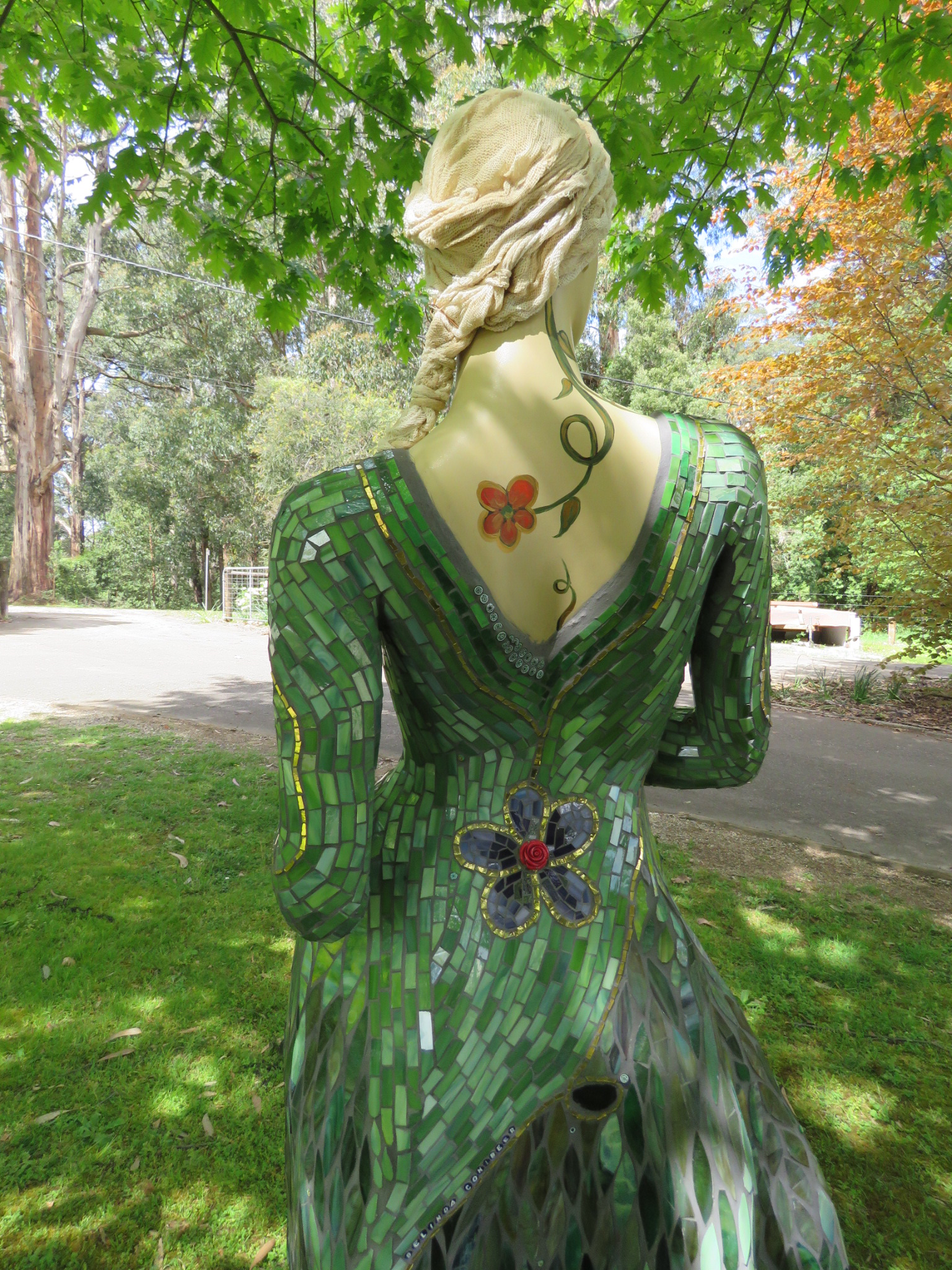 Gaia - Goddess of the Garden Mosaic Sculpture $800 to CanCure fundraising