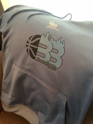 Beantown Ballers light blue dri-fit hoodie