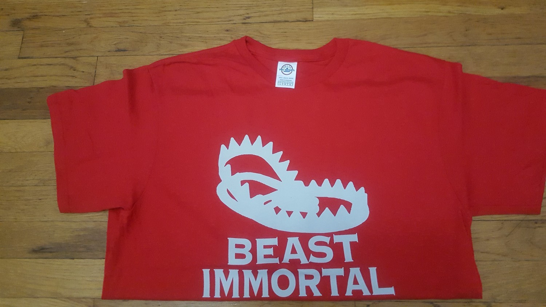 Beast Immortal red t-shirt