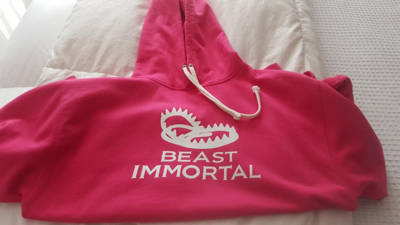 Beast Immortal pink trap hoodie