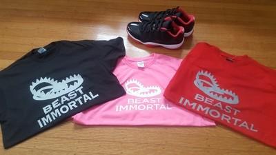Beast Immortal pink t-shirt