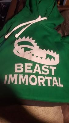 Beast Immortal green trap hoodie