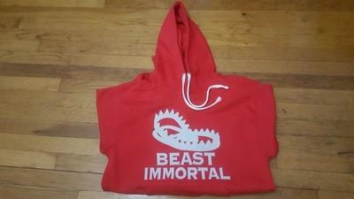 Beast Immortal red trap hoodie