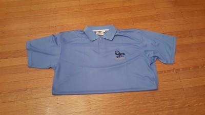 Beast Immortal dri-fit light blue polo shirt