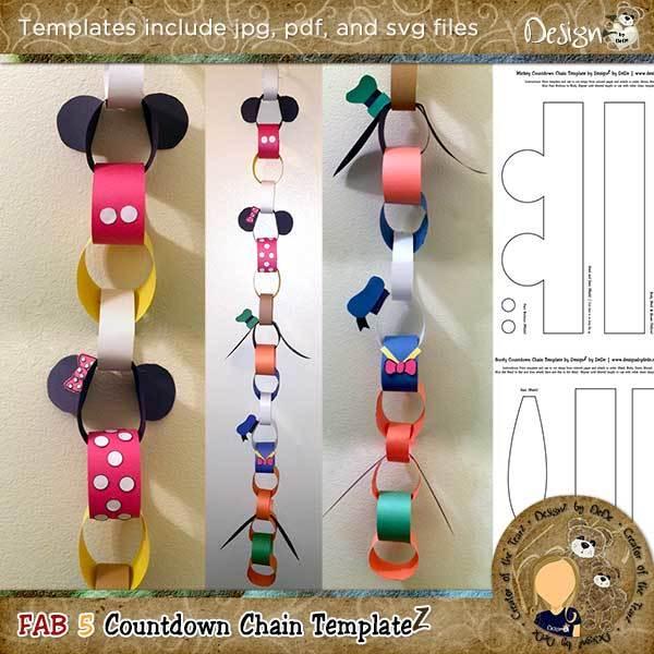 Fab 5 Countdown Chain Templates