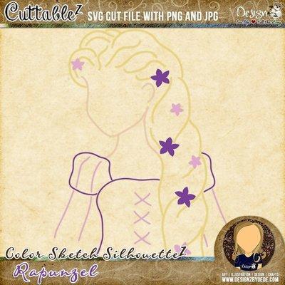 Rapunzel | Color Sketch SilhouetteZ
