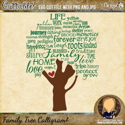Family Tree CalligramZ