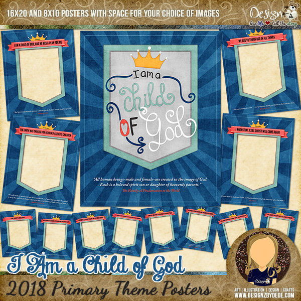 2018 Primary Theme Posters | I Am a Child of God