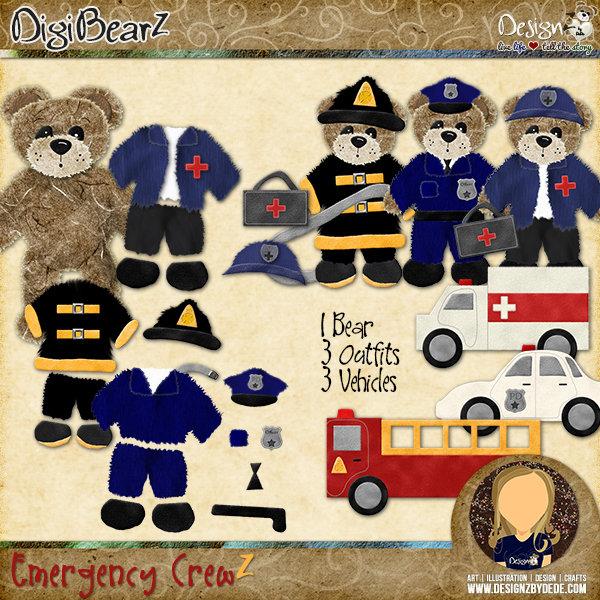DigiBearZ   Emergency CrewZ