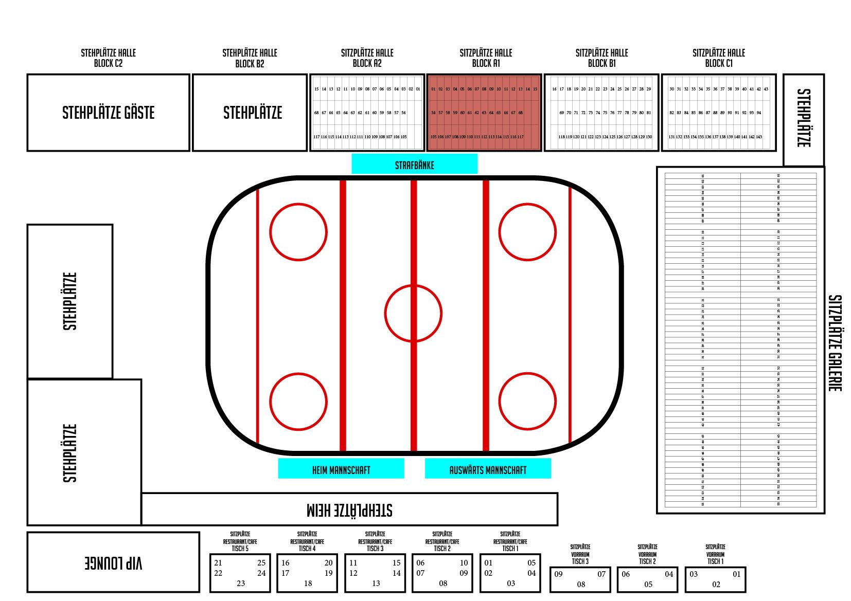 Dauerkarte 2017/18 Sitzplatz BLOCK A1 100331-A1
