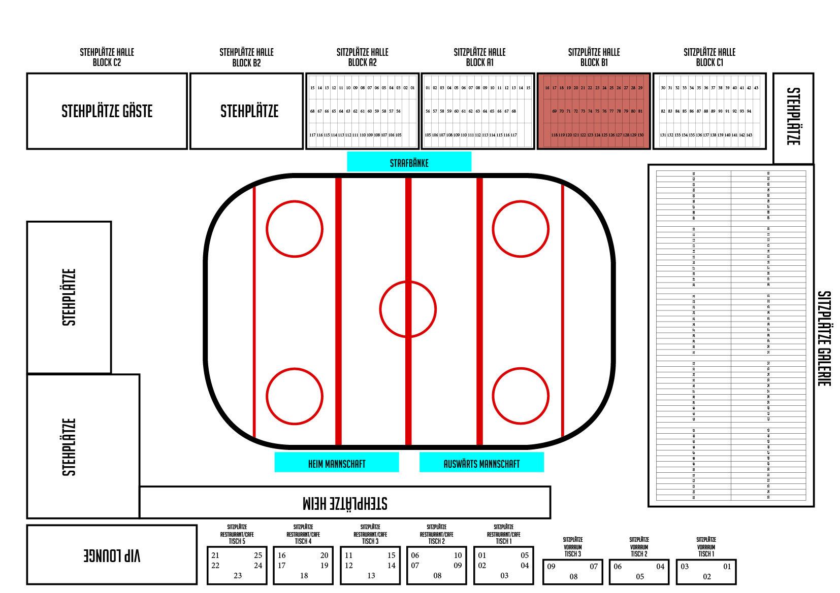 Dauerkarte 2017/18 Sitzplatz BLOCK B1 100331-B1