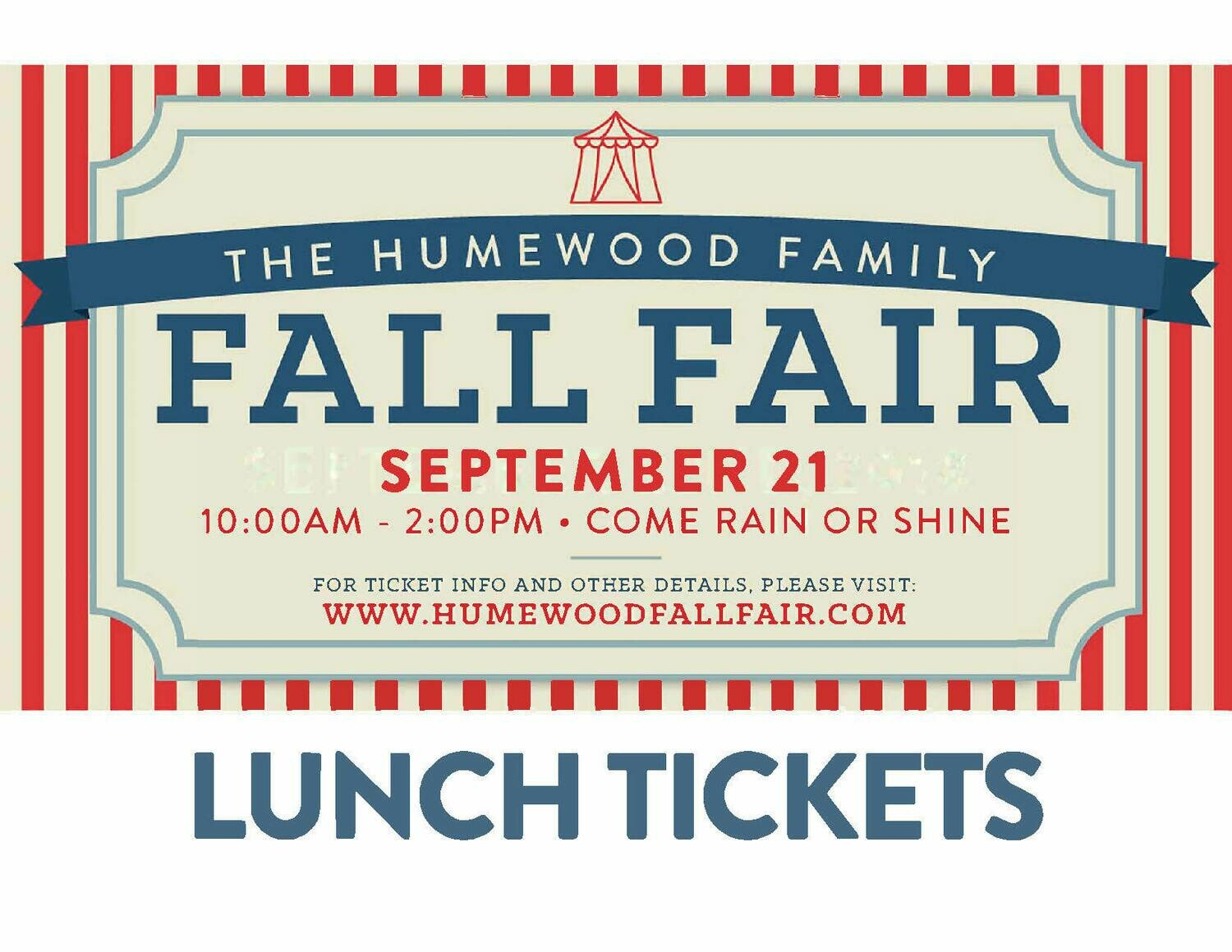 Humewood Fall Fair: Lunch ticket