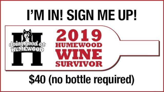 Humewood School Wine Survivor $40 tickets ($20 to Humewood and $20 covers your wine contribution - no bottle required)