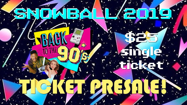 2019 Snowball Tickets - Single Ticket