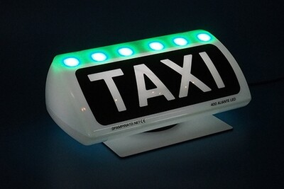 Insegna Taxi Led verde