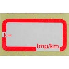Etichette impulsi per costante tachigrafo analogico