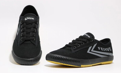 1920 Feiyue Black Sneaker/Grey Letters