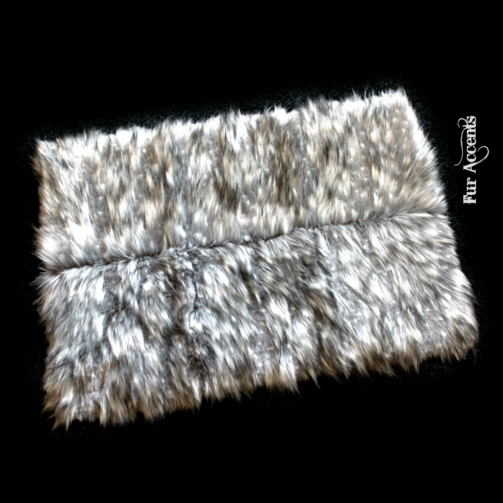 Fur Accents Faux Fur 6 Piece Patchwork Throw Rug
