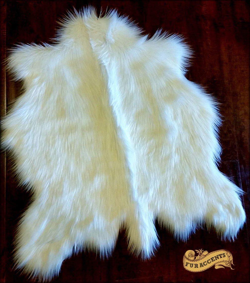 Fur Accents Faux Fur Deer Skin